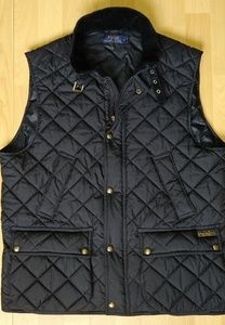 Polo Ralph Lauren & Co Quilted Black Puffer Vest
